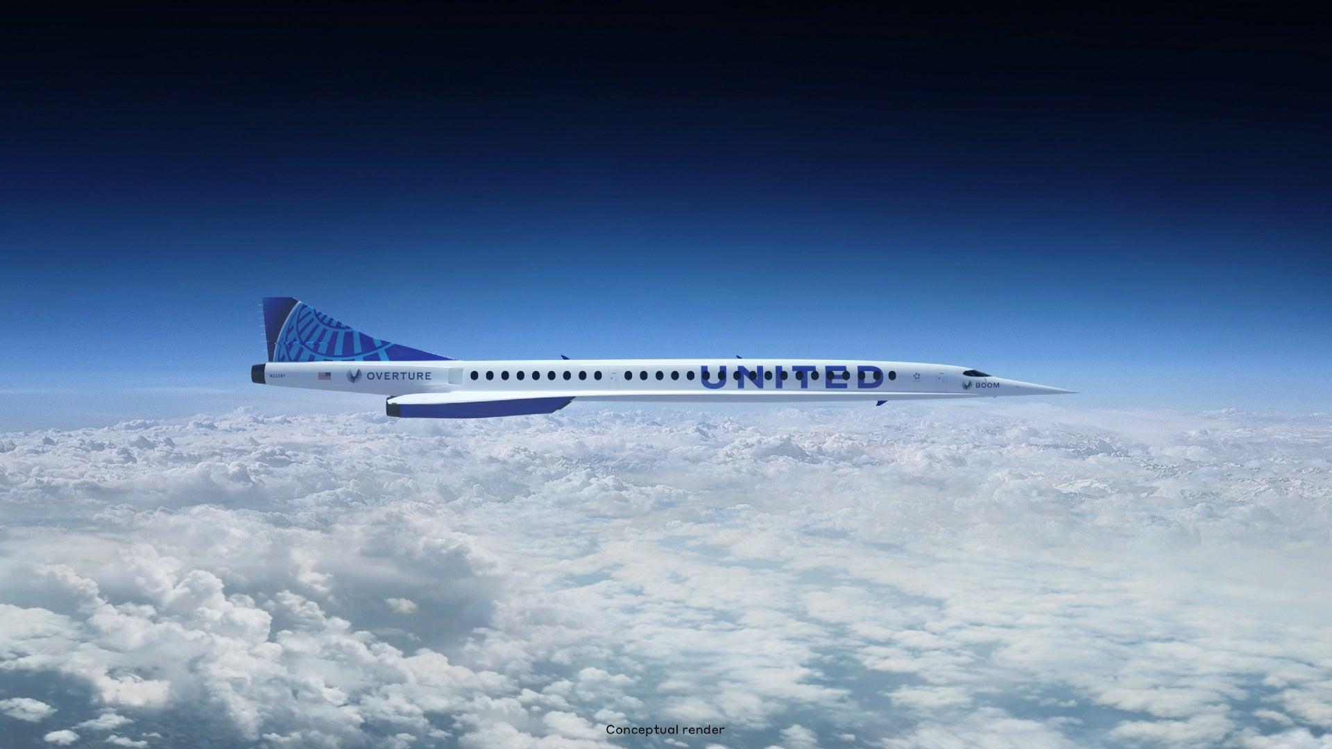 "United Airlines koopt 15 ""Overture"" supersonische vliegtuigen"